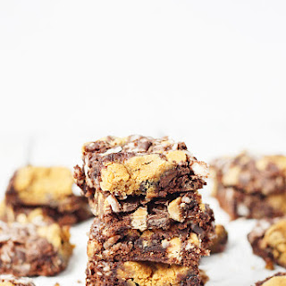Double Peanut Butter Coconut Brownies.