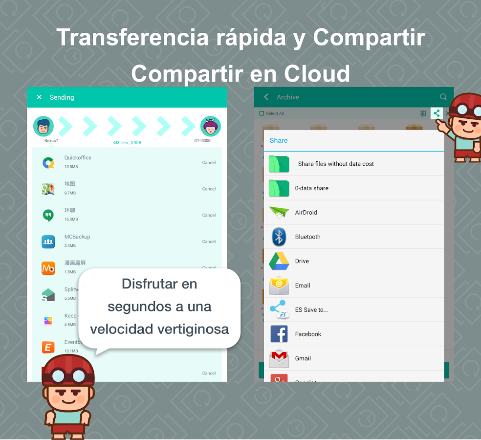 App Backup Restore Transfer: captura de pantalla