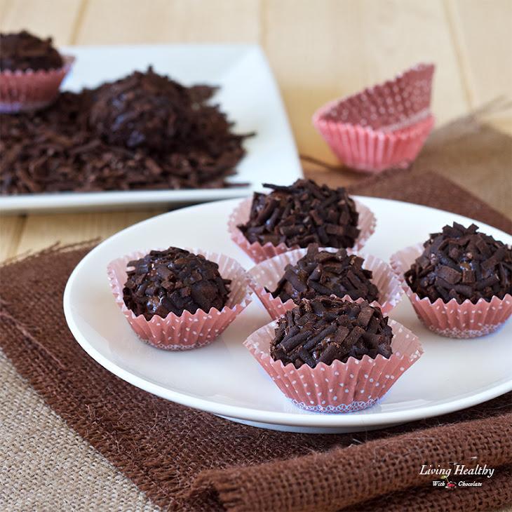 Dark Chocolate Truffle with Homemade Chocolate Sprinkles (gluten-free ...