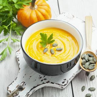 Pumpkin and Carrot Soup.