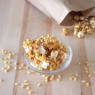 Microwave Caramel Popcorn #SundaySupper