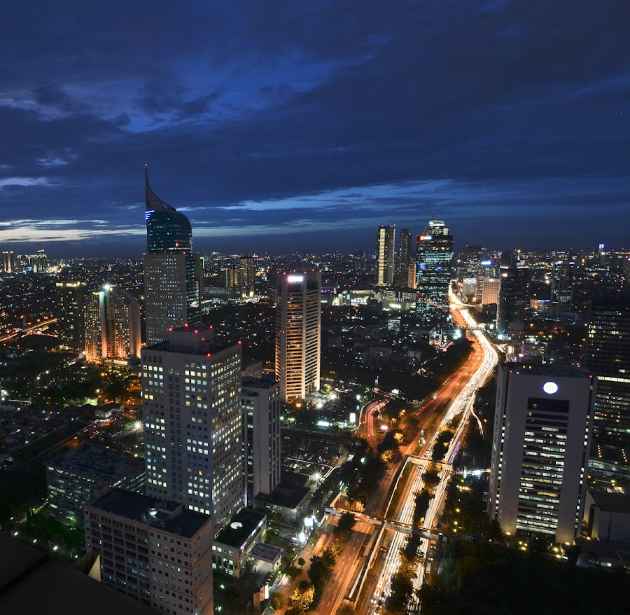 Jakarta at night by Roy Tamzil - Buildings & Architecture Other Exteriors