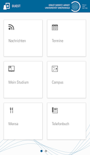 Universität Greifswald- screenshot thumbnail