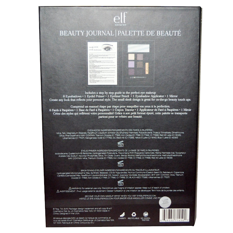 E.L.F. Cosmetics, Beauty Journal, Smoky Look Set, Best Eyeshadow Palette