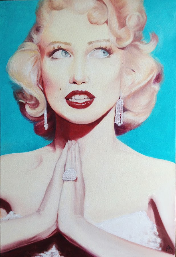marylin munroe by Michelle Exler - Painting All Painting ( marylin munroe painting,  )