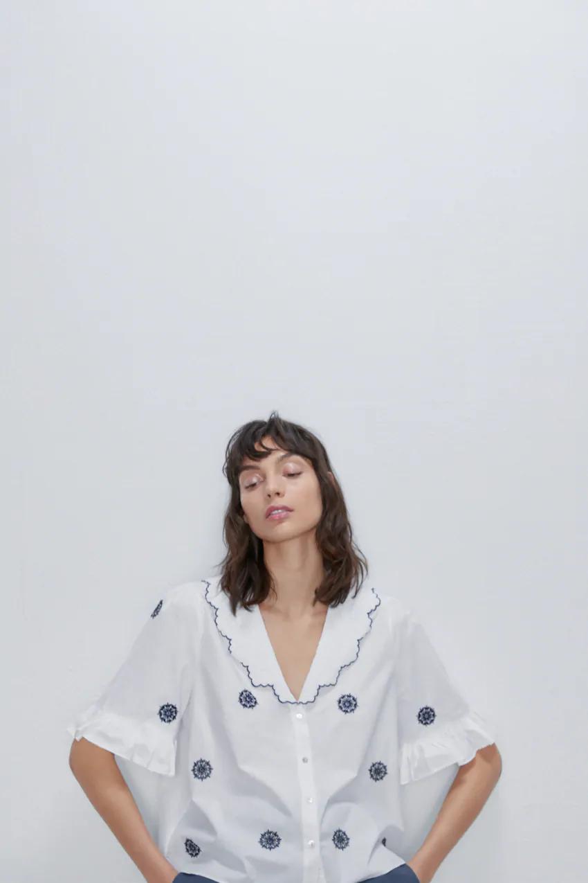 blouse by zara