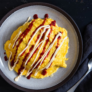 Japanese Omelette-Topped Ketchup Fried Rice With Chicken (Omurice)