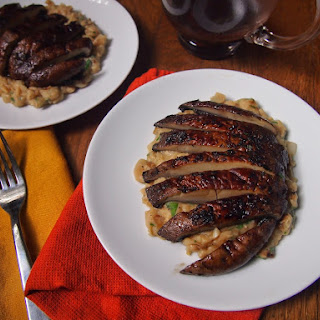 Seared Portobello Mushroom Steak with Creamy Mashed Beans