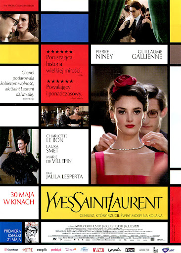 Przód ulotki filmu 'Yves Saint Laurent'