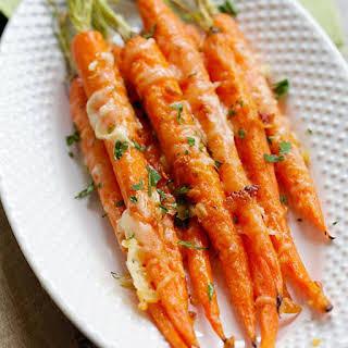Garlic Parmesan Roasted Carrots.