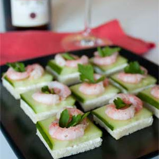 Shrimp Canape with Cream Cheese and Cucumber