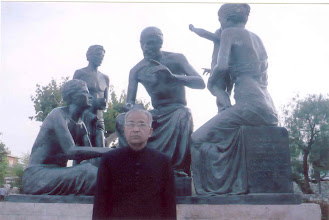 Photo: Prof. Hakim Syed Zillur Rahman standing infront of Hippocratic statue at Kos Island (Greece)