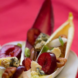Cherries and Endive Appetizer.