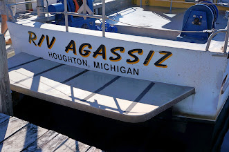 Photo: The Michigan Technological University research vessel Agassiz.