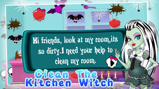 Clean the kitchen witch