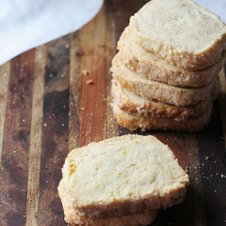 Orange Cardamon Shortbread Cookies
