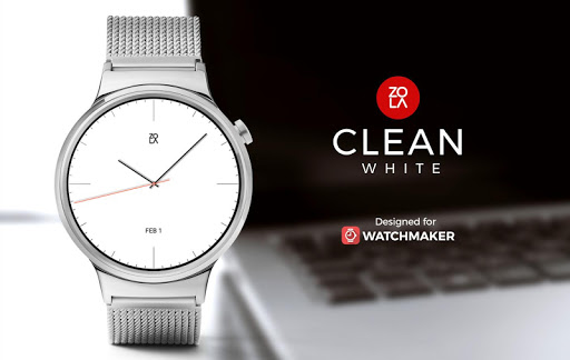 Screenshot for Clean White Watch Face in United States Play Store