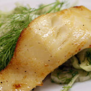 Pastis-Glazed Fish with Fennel Slaw.