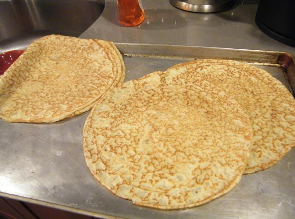 To make crepes: Brush the skillet with oil or spray with cooking spray. ...