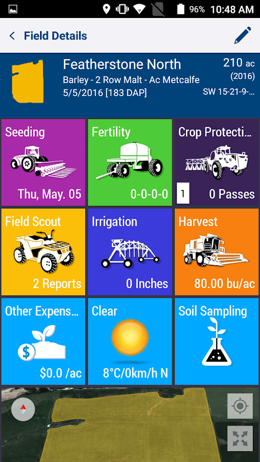 Trimble Ag Mobile- screenshot