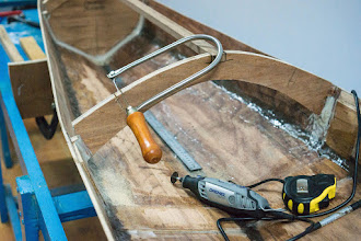 Photo: I use the Dremel and the fretsaw to make small cuts