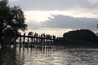 Photo: Year 2 Day 55 -  Traffic on U Bein's Bridge in Amarapura