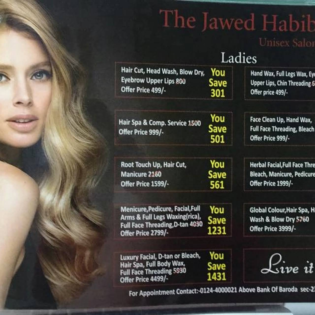 Jawed Habib Salon Hair Beauty Salon In Gurugram
