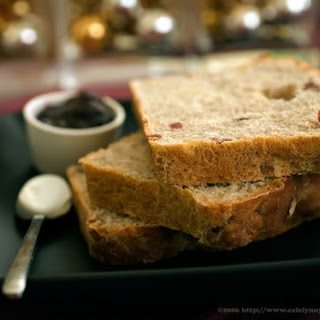 Cranberry Apple Walnut Yeast Bread.