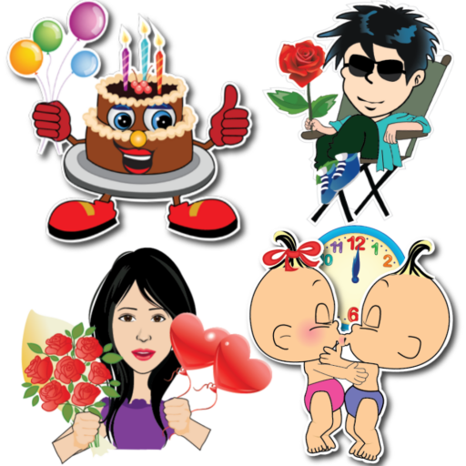 Happy Birthday & Anniversary Stickers