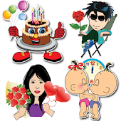 Happy Birthday Stickers - Anniversary Stickers