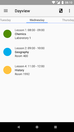 Timetable  screenshots 2