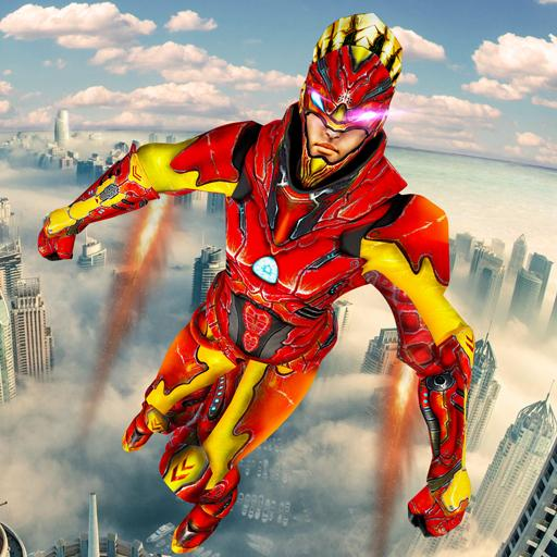 Iron Hero City Rescue Game