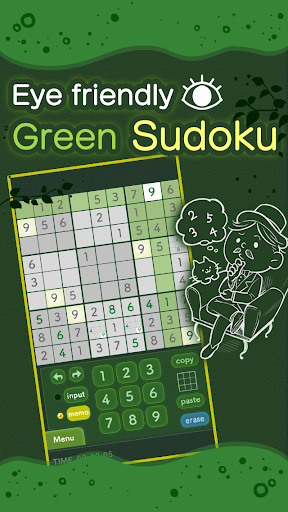 Green Sudoku easy to operate! 1.3.0 Windows u7528 1