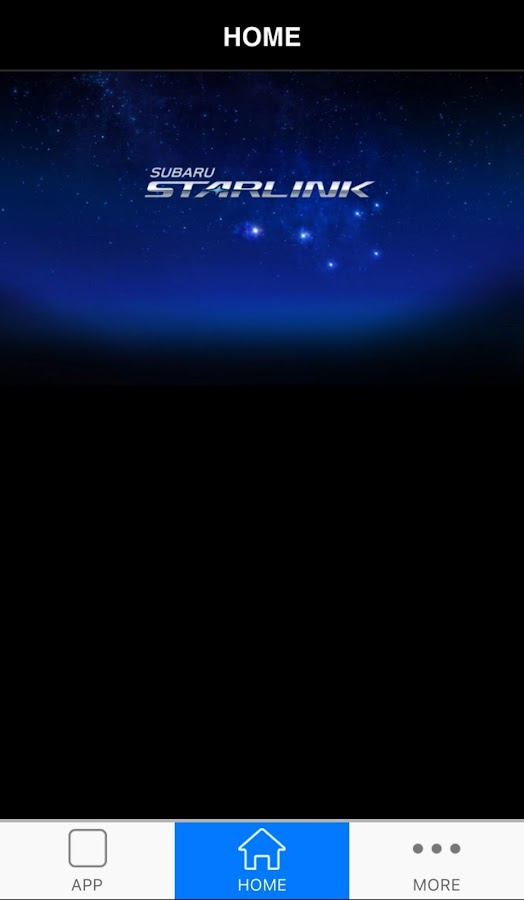 SUBARU STARLINK- screenshot