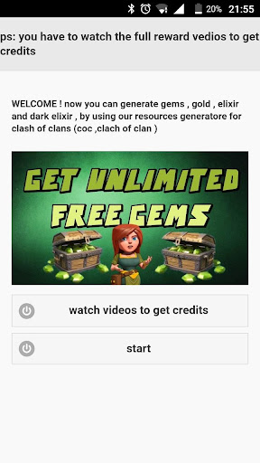 Free Gems For Clash Of Clans  for PC