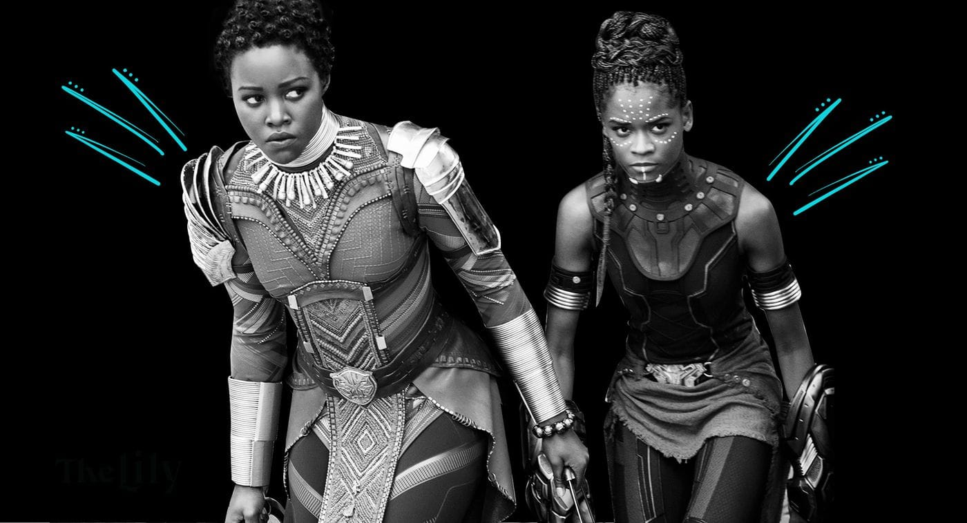 Lupita Nyong'o and Letitia Wright in 'Black Panther' © 2017 - DISNEY/MARVEL STUDIOS