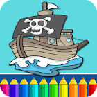 Pirata Gioco Colorare icon