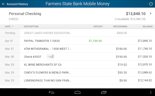 FarmersStateBank Mobile Money- screenshot thumbnail