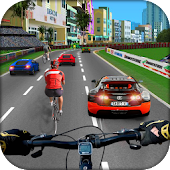 Traffic Bicycle Rider 3D Racer -City Cycling Craze