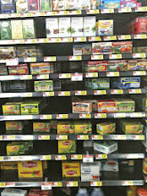 Photo: First I checked out the tea aisle to see what options were available.