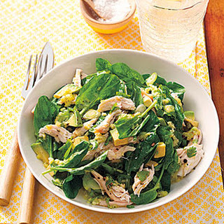 Chicken and Avocado Salad with Wasabi-Lime Dressing