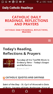 Daily Catholic Readings, Reflections and Prayers- screenshot thumbnail