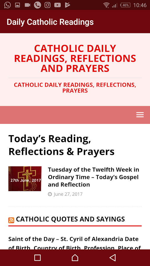Daily Catholic Readings, Reflections and Prayers- screenshot