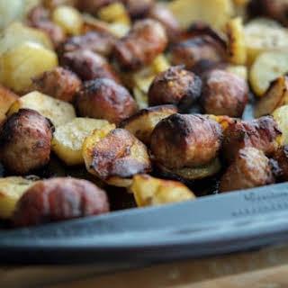 Roasted Italian Sausage & Potato Bake.