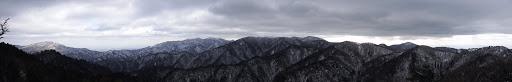 銚子ヶ口南峰からパノラマ