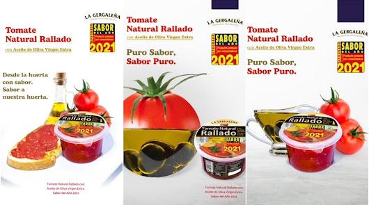 Tomate natural rallado con AOVE La Gergaleña, premio Sabor del Año 2021