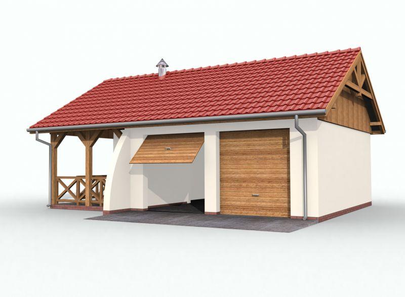 Projekt Garażu G42 Szkielet Drewniany Tyq 421 4551m²