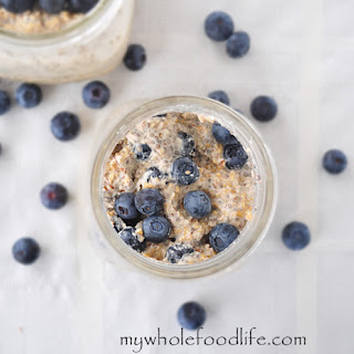 Blueberries and Cream Overnight Oats.