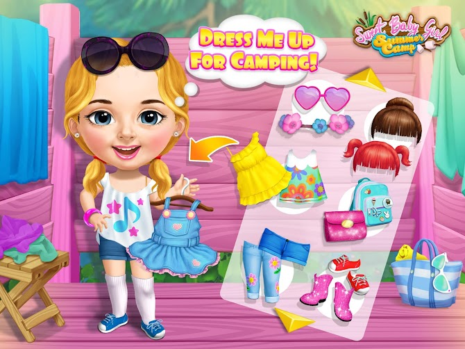 Sweet Baby Girl Summer Camp - Kids Camping Club Android 10