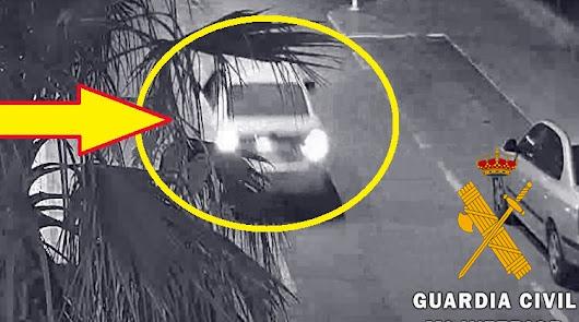 Imágenes del coche en poder de la Guardia Civil.